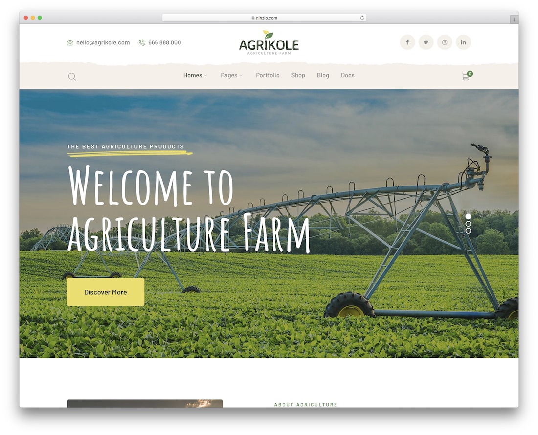 agrikole farming wordpress theme