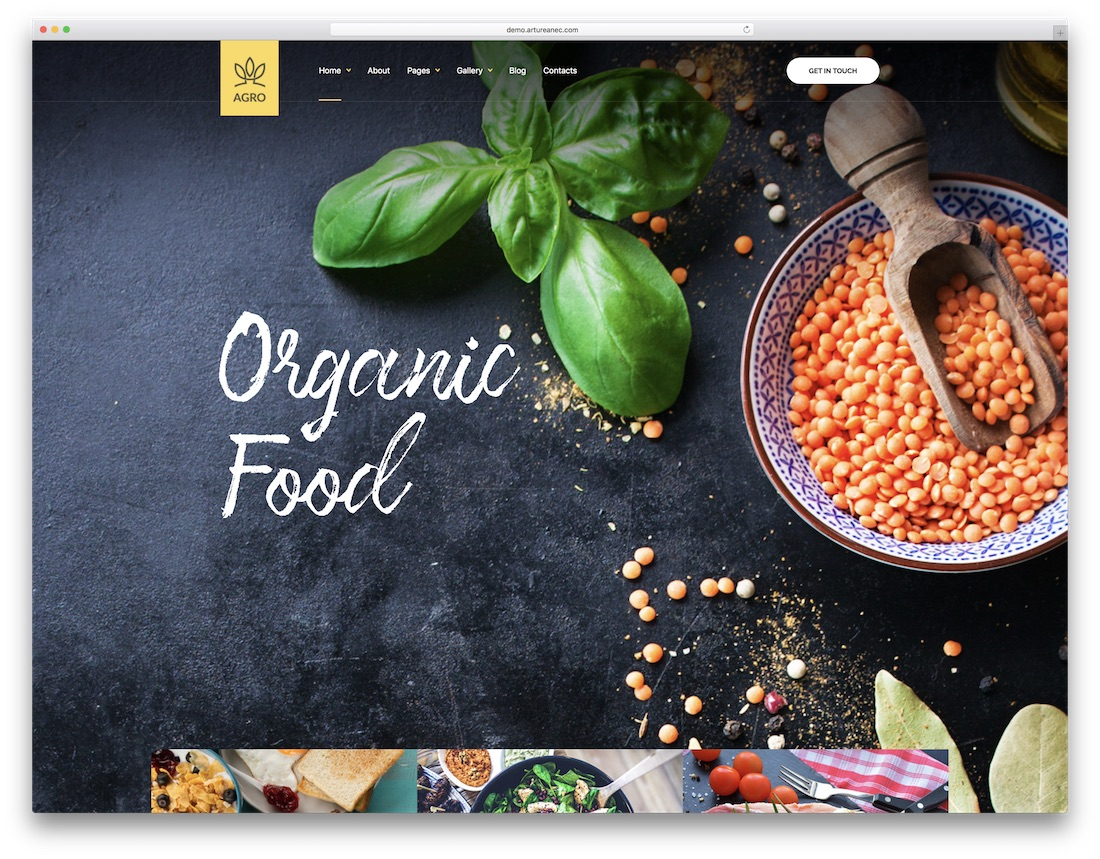 agro professional website template