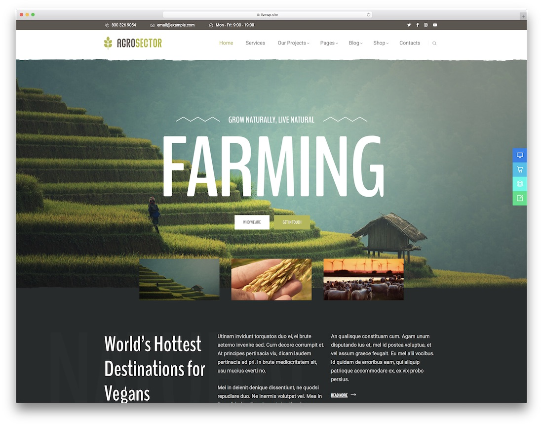 agrosector farming wordpress theme