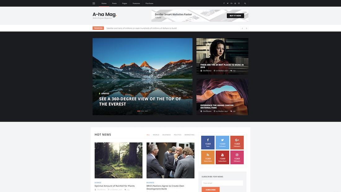 ahamag technology website template