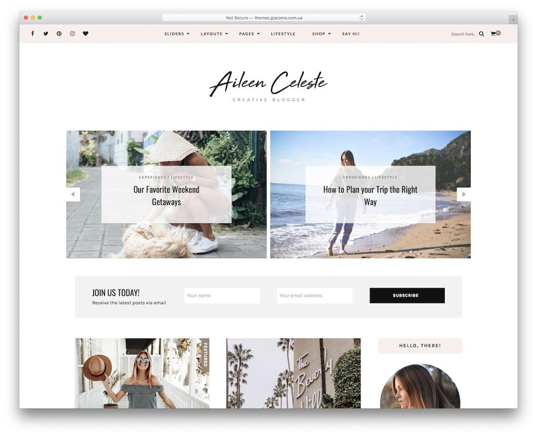 aileen content sharing wordpress theme