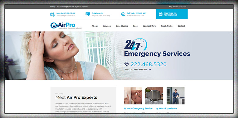 AirPro - Heating and Air conditioning WordPress Theme for Maintenance Services