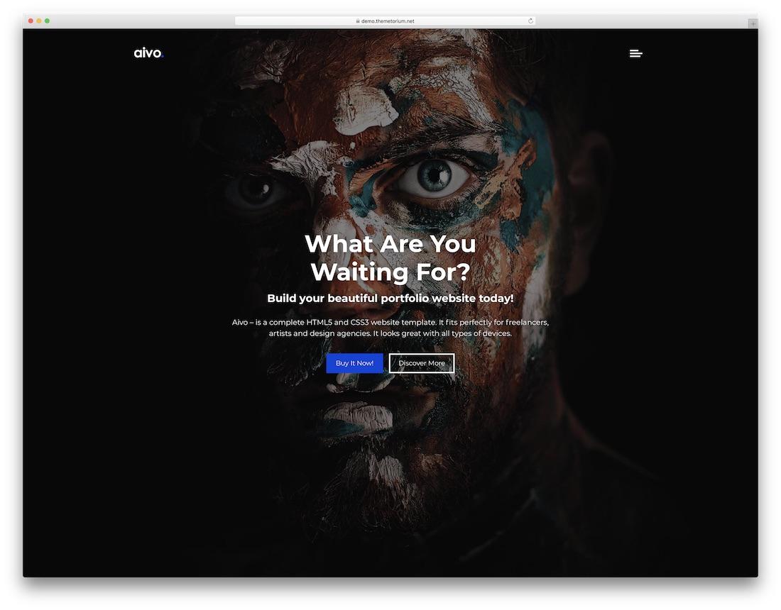 Top MobileReady Artist Website Templates Colorlib - Fresh artist bio template design