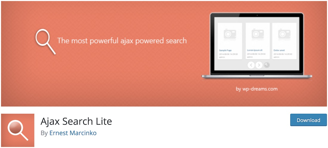 ajax search lite wordpress plugin