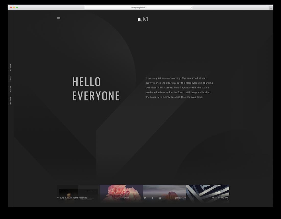 ak1 blog website template