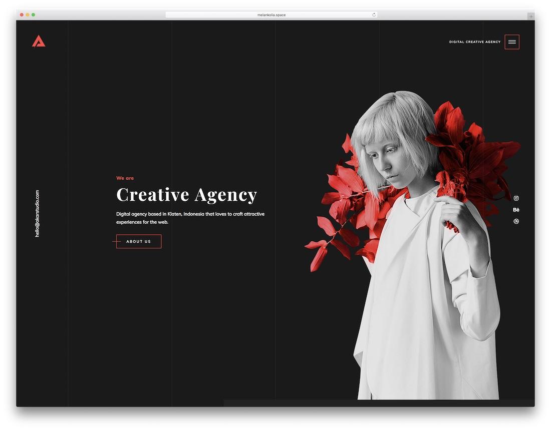 akar marketing website template
