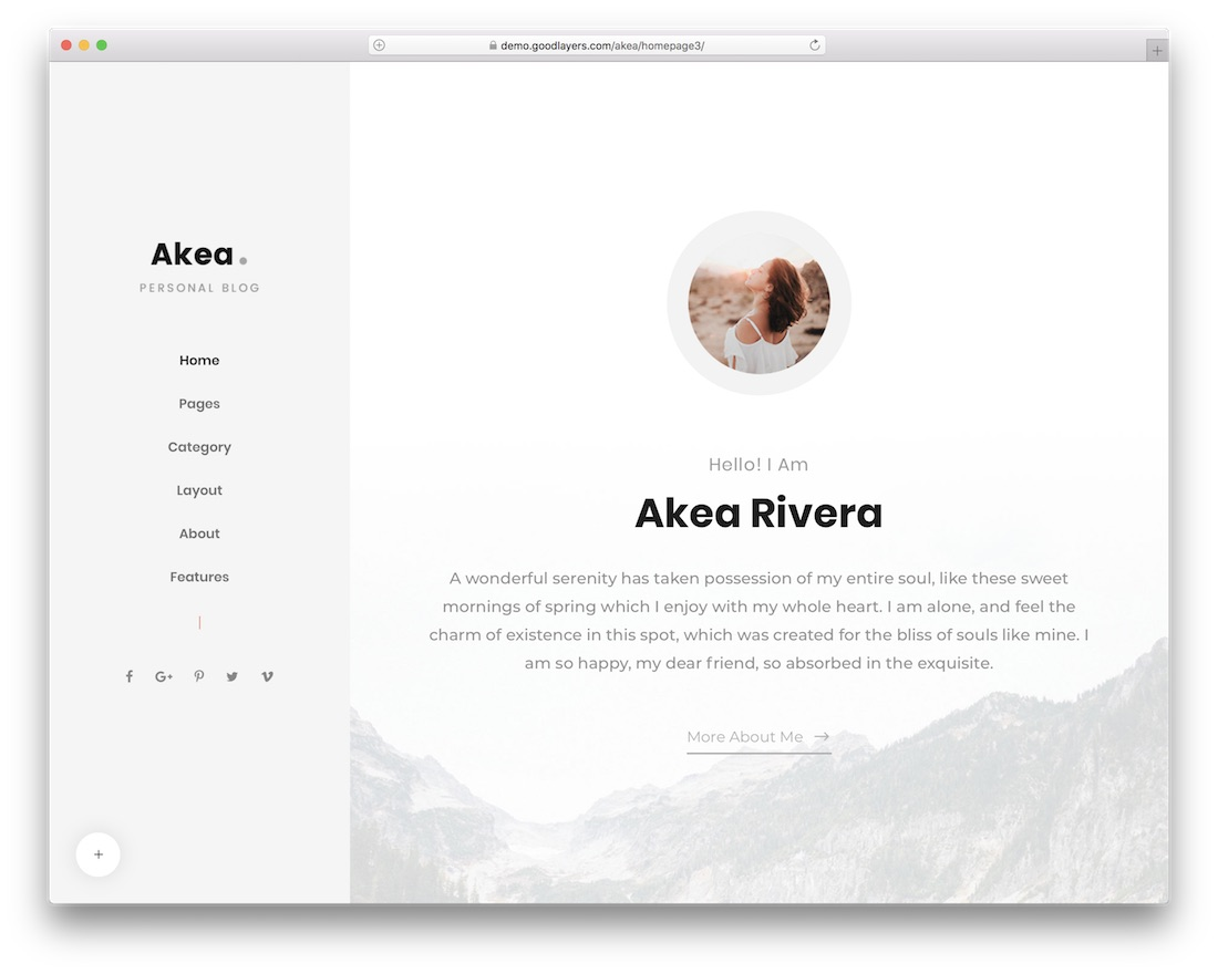 akea popular wordpress blog theme