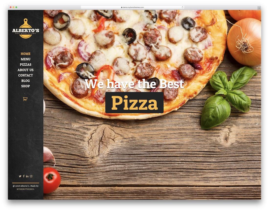 albertos pizza house wordpress theme