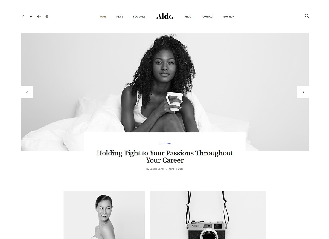 Aldo | Gutenberg Blog WordPress Theme