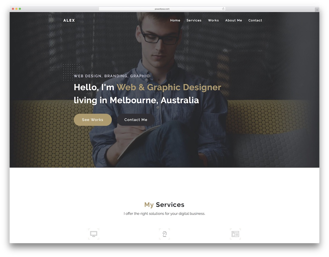 alex adobe muse template
