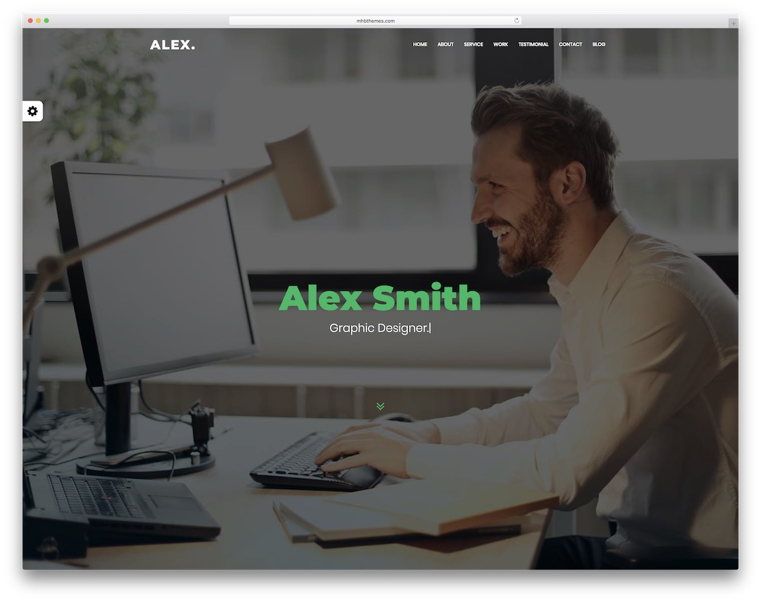 alex bootstrap personal website template