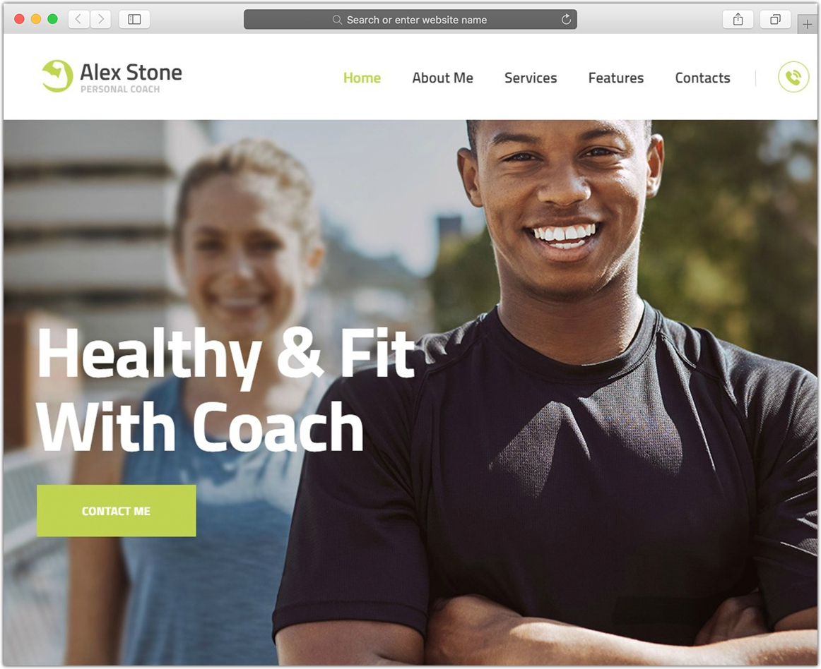 Alex Stone | Personal Gym Trainer Theme