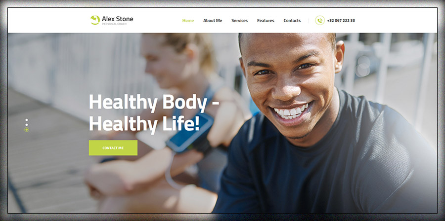Alex Stone | Personal Gym Trainer Theme