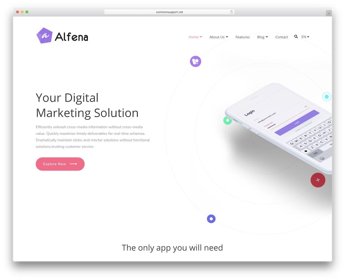 alfena cheap wordpress theme