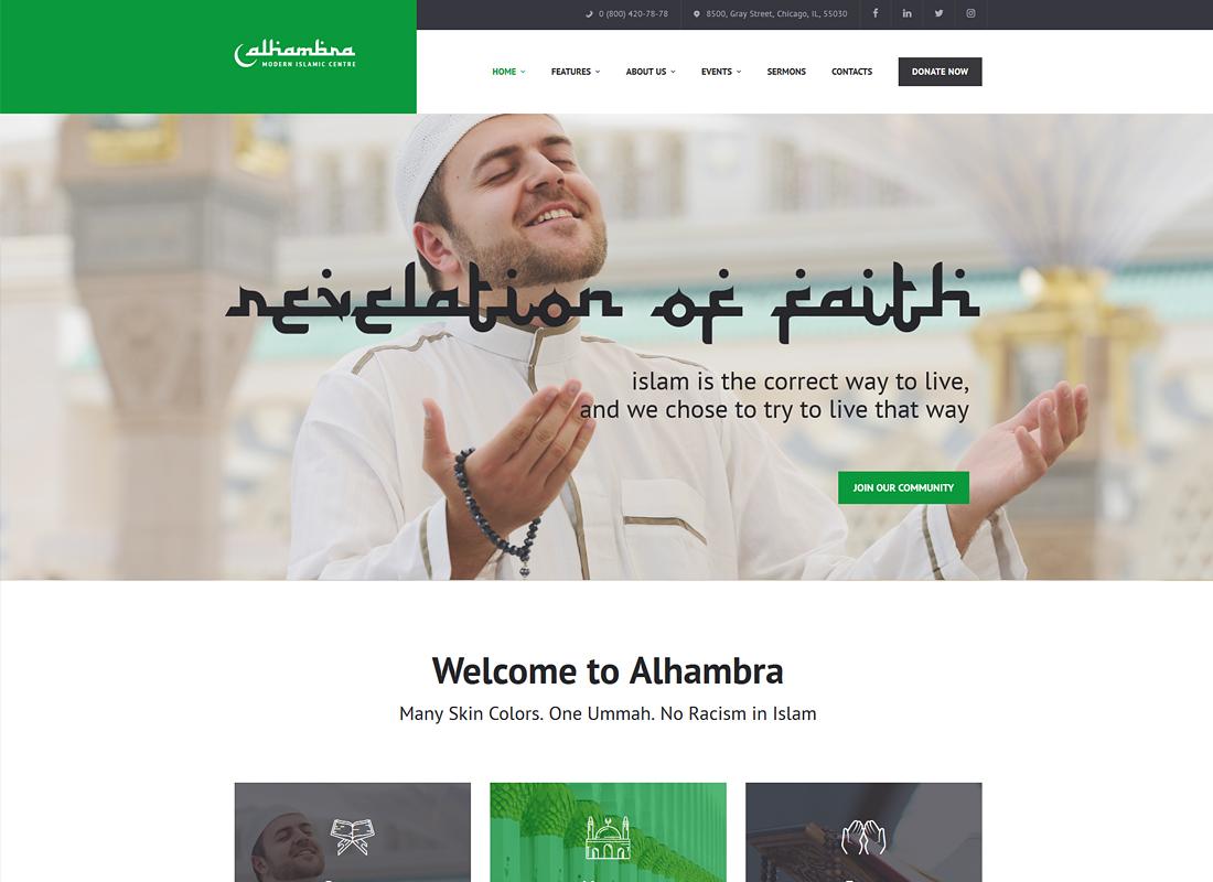Alhambra | Islamic Centre WordPress Theme + RTL