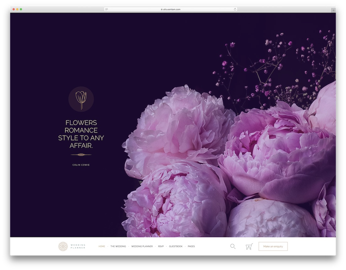 alis wordpress wedding theme