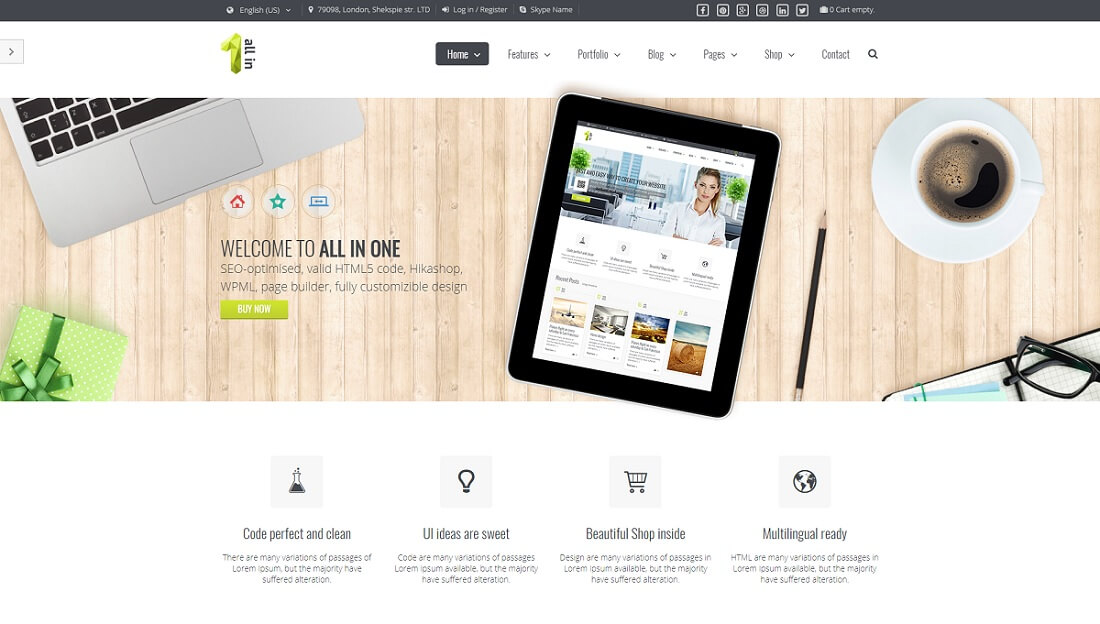 all in one joomla business template