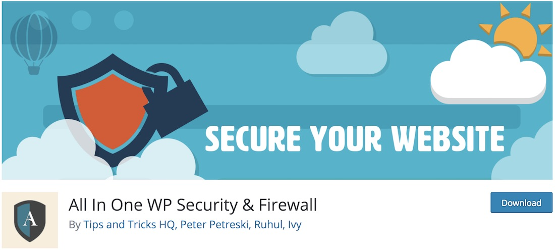 all-in-one wp security and firewall wordpress plugin