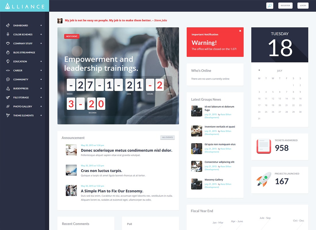 Alliance | Intranet & Extranet HTML Template