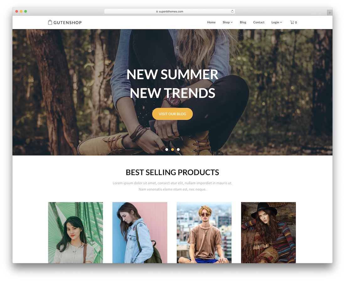 alluring ecommerce free wordpress theme