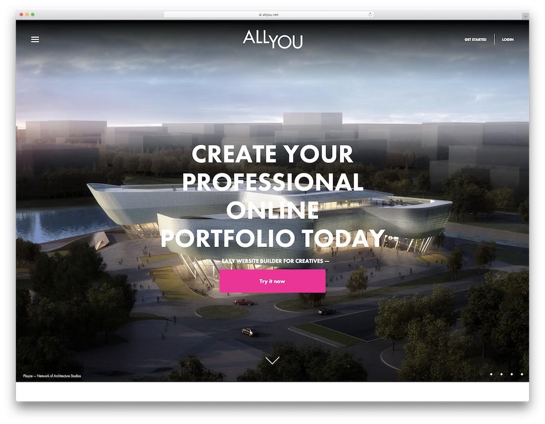 allyou best portfolio website builder