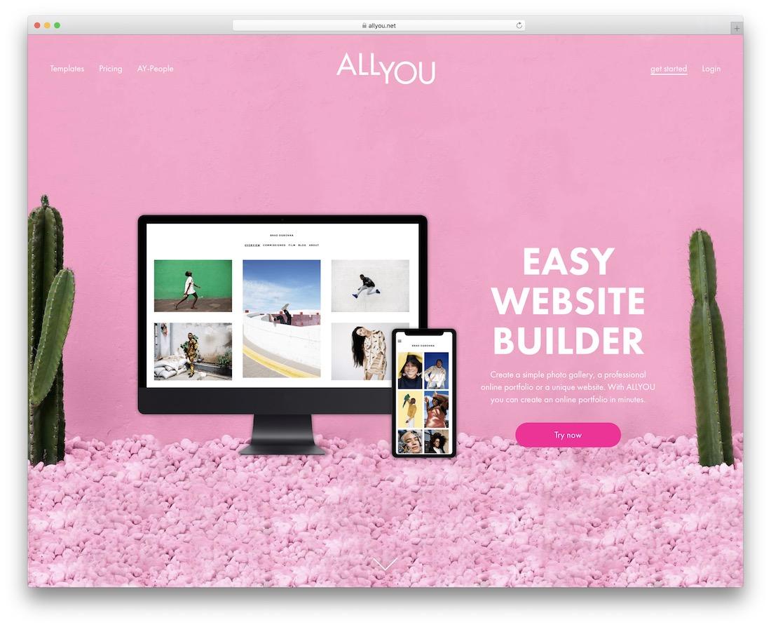 allyou build portfolio website