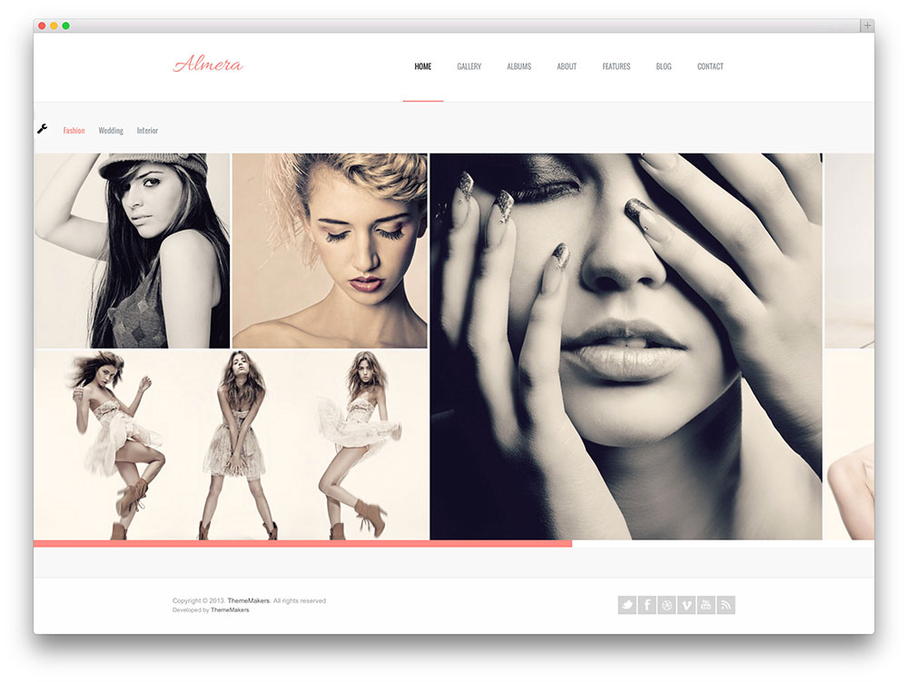 almera photography portfolio theme