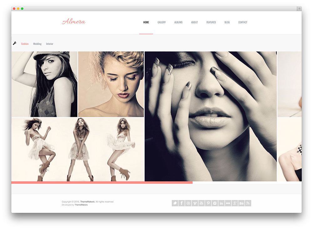 almera - light photography template