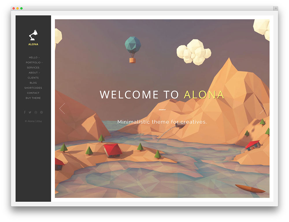 alona - full screen portfolio theme