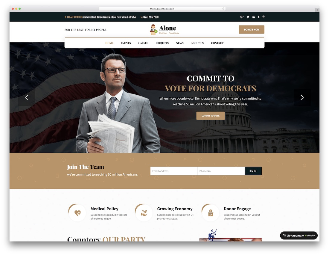 alone political wordpress theme