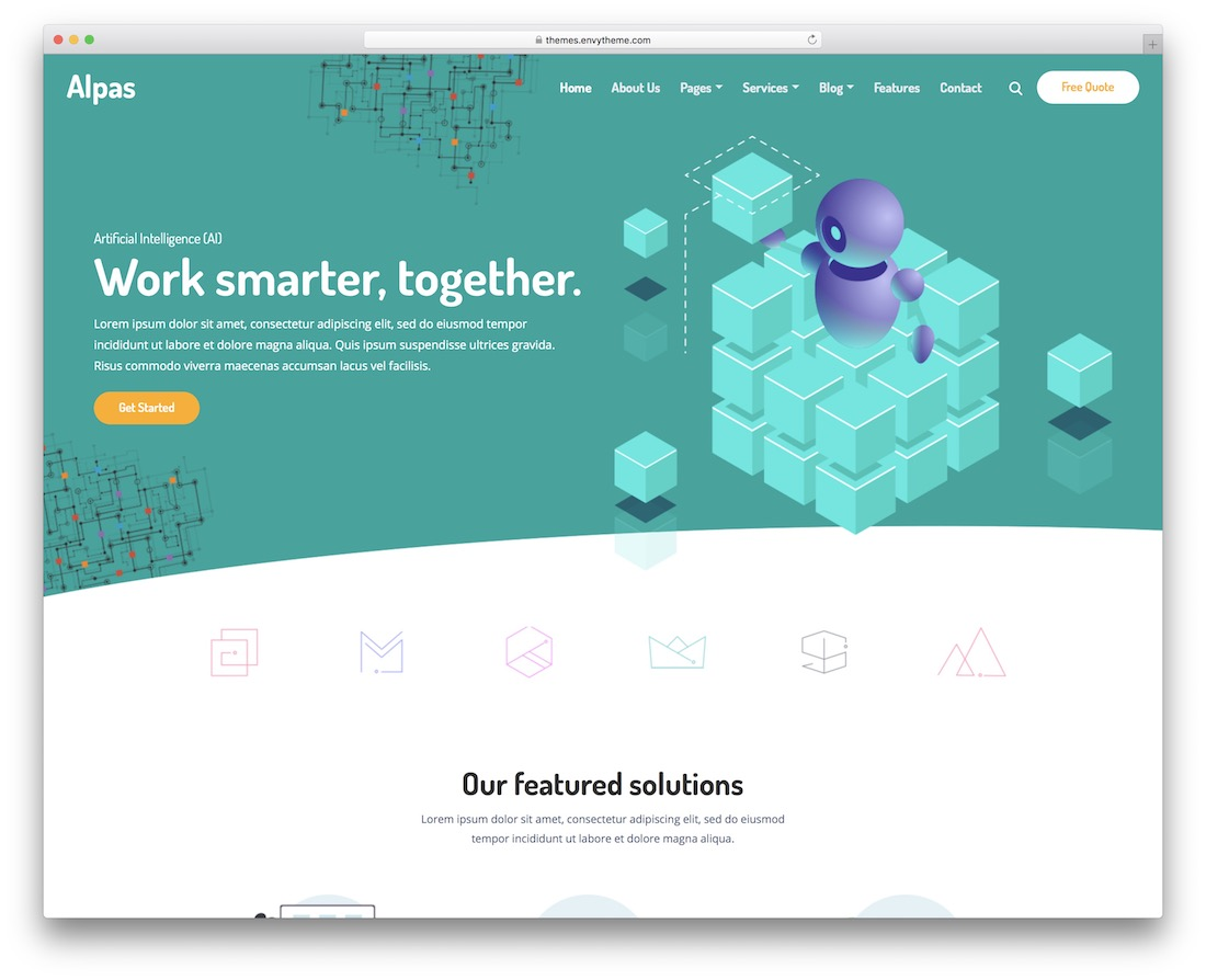 alpas technology website template