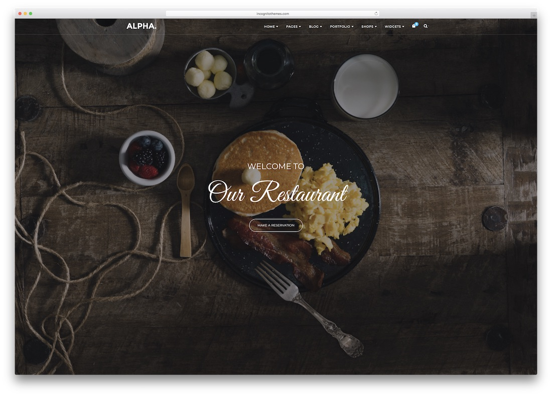 alpha dot html5 website template