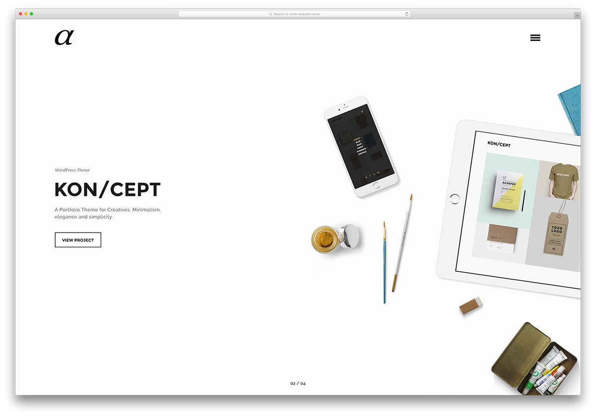 alpha-minimal-portfolio-wordpress-theme