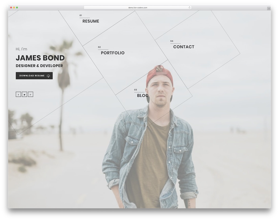 alpha personal portfolio website template