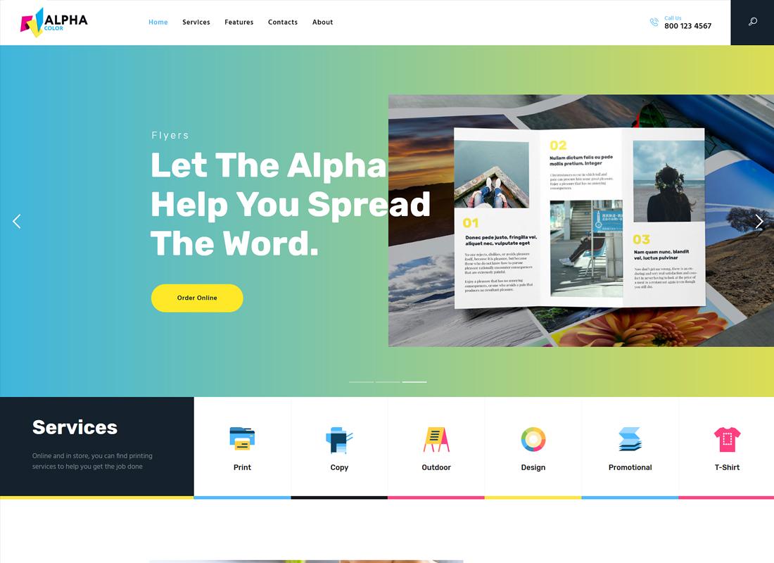 AlphaColor | Type Design & Printing Services WordPress Theme