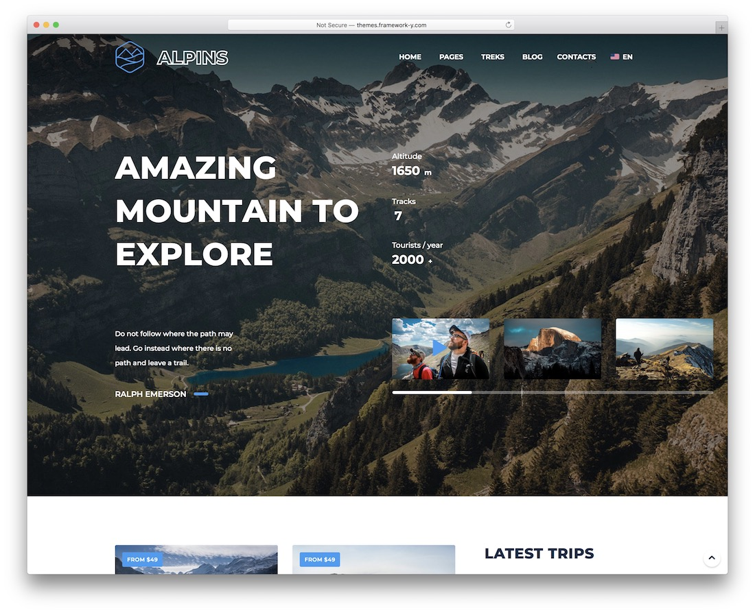 alpins wordpress travel theme