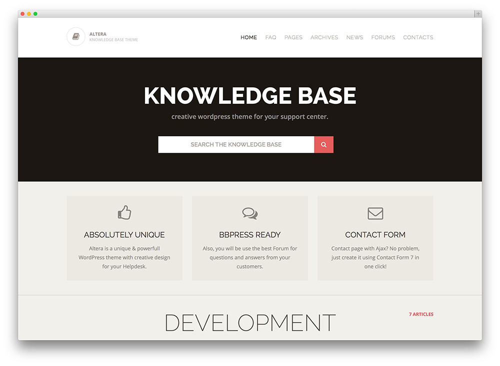 altera complete knowledge base theme