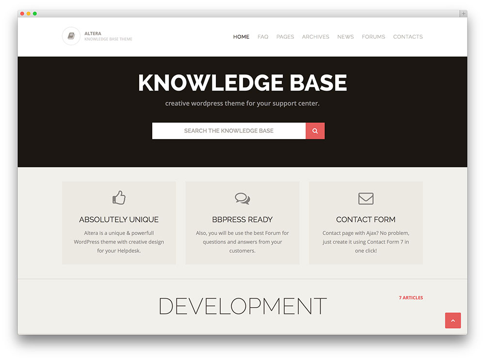 altera complete knowledge base wordpress theme