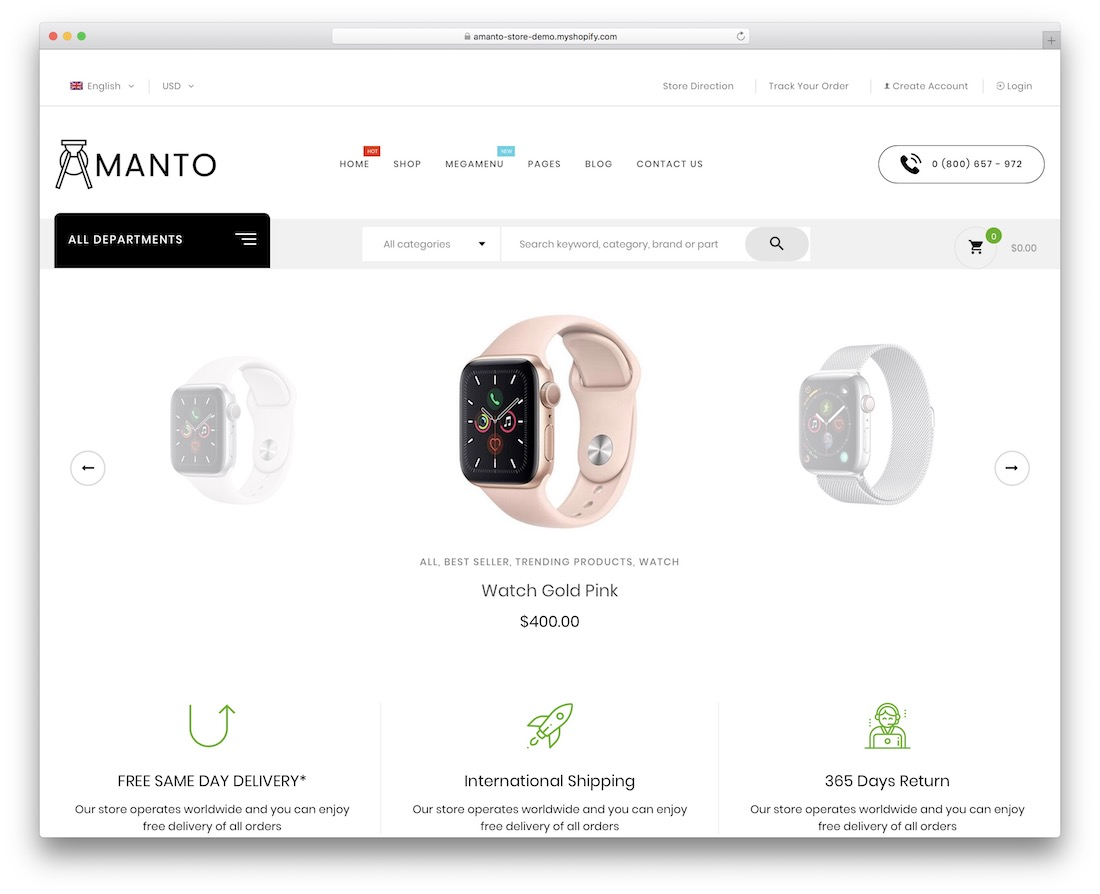 amanto simple shopify theme
