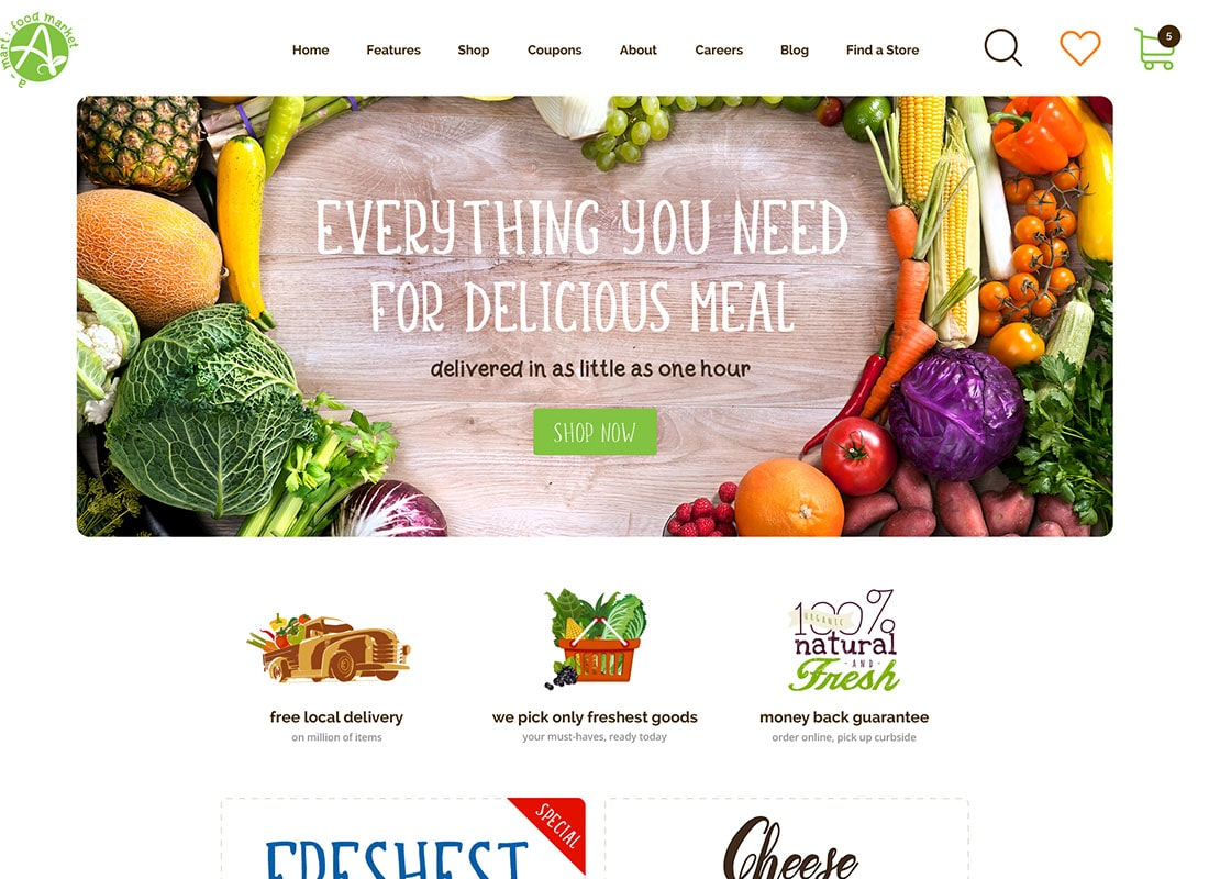 A-Mart - Organic Products Shop WordPress Theme