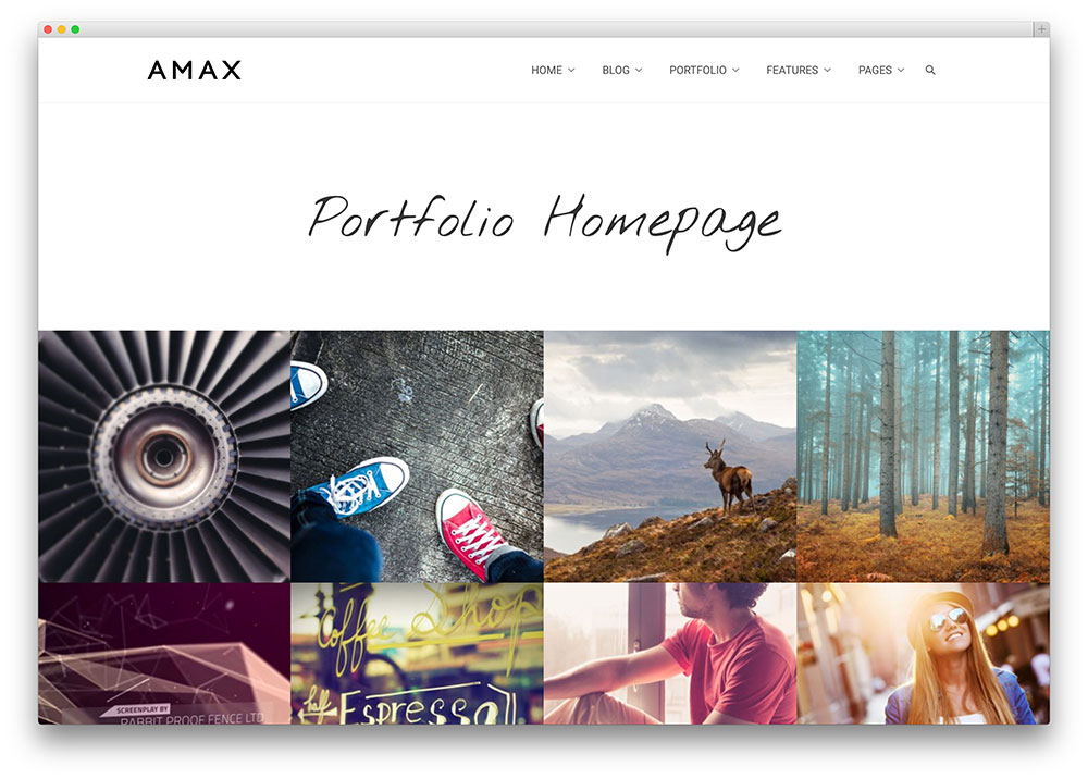 amax - light portfolio theme