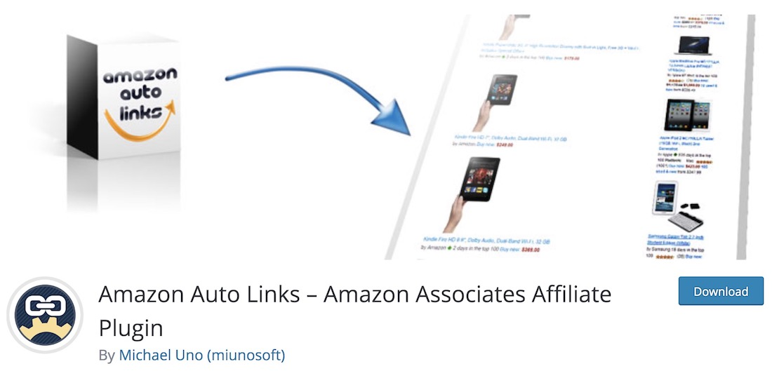 amazon auto links free wordpress affiliate plugin