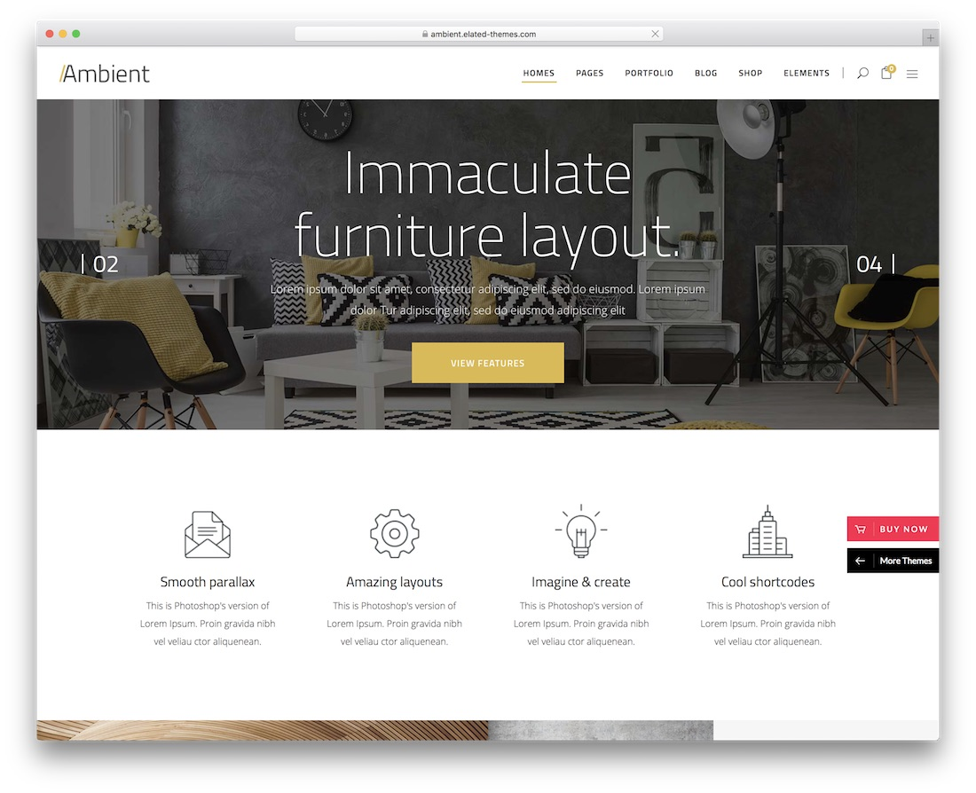 ambient wordpress theme for architects