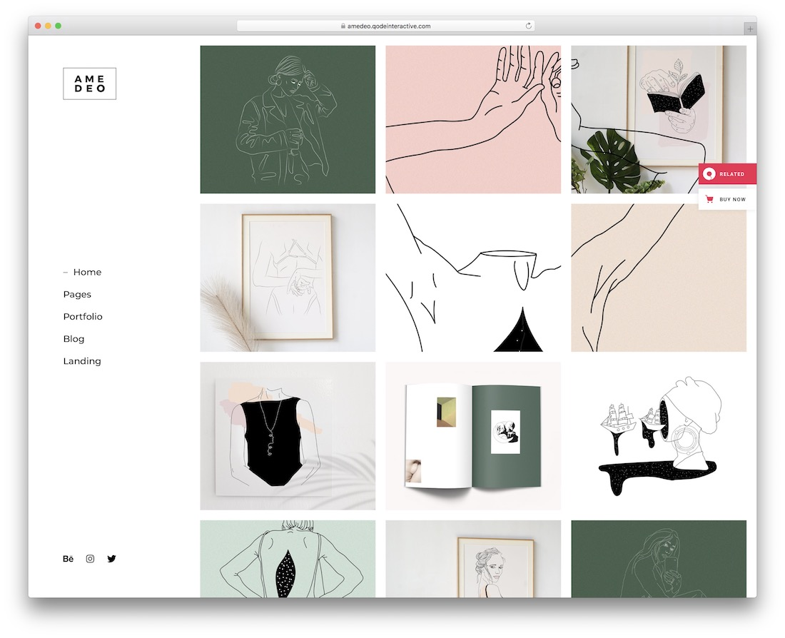 amedeo portfolio wordpress theme