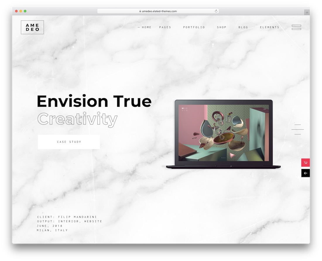 amedo creative wordpress theme