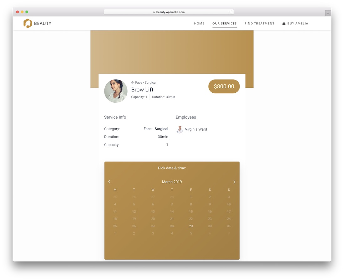 amelia appointment booking wordpress plugin