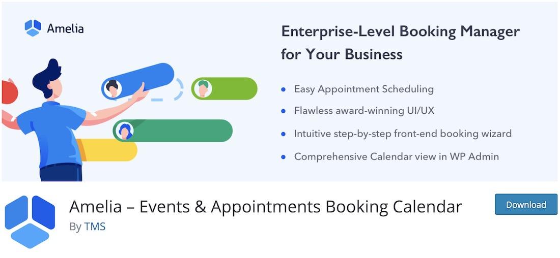 amelia wordpress appointments booking plugin