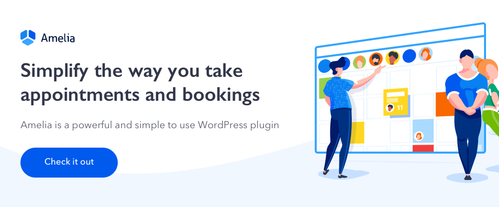 amelia wordpress appointments booking plugin