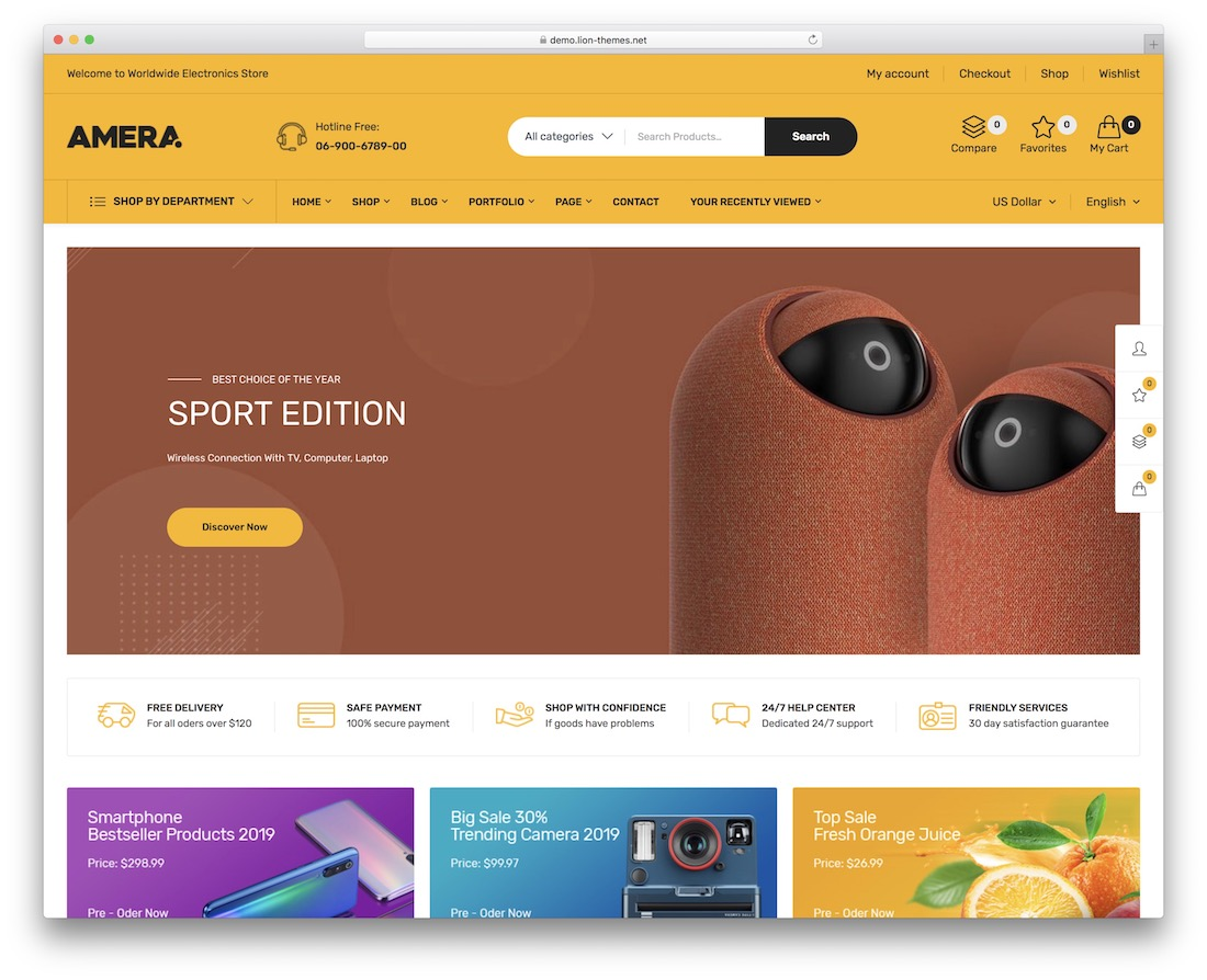 amera wordpress cd dvd theme