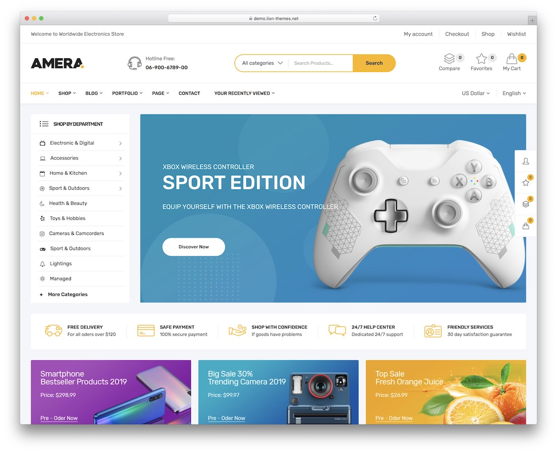 amera wordpress theme selling digital products